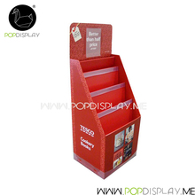 Custom POP Corrugated Cardboard Floor Display Stand For Book