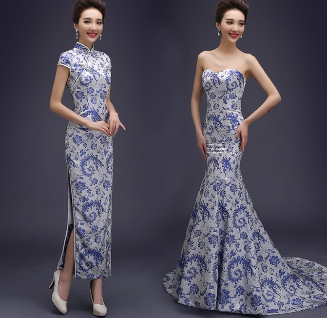 chinese traditional formal qipao party evening dress 2014
