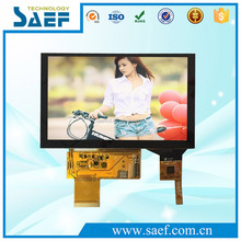 SAEF display 5 inch LCD monitor 800x480 touch screen color tft liquid crystal lcd module