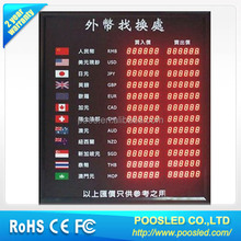 indoor led electronic currency board \ led foreign currency board for office sign \ rates currency exchange