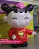 2m high inflatable little girl for Chinese New Year , inflatable cartoonC-129