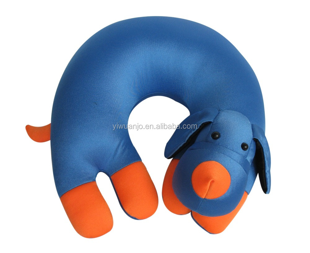 Cute Animal Head Memory Foam Neck Pillow Child Care Pillow in Supper Soft Microbead AJ1061