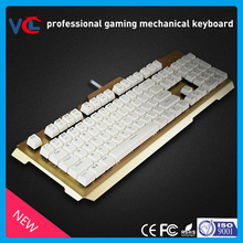 OEM factory price professional aluminum alloy interface wired backlit gaming mechanical keyboard chanical keyboard