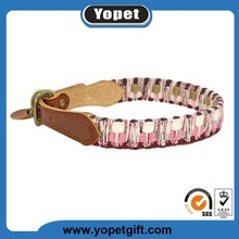 Customized Logo Printed Eco-friendly Pet Puppy Dog Leather Collars For Wholesale