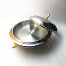 Hotel use 28cm/11inch round stainless steel butter chafing dish, buffet stove for restaurant