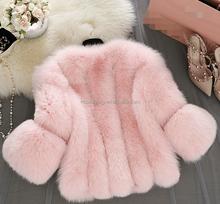 Genuine Pretty Black Real Natural Silver Fox Fur Winter Women Coat With Sheepskin On Sale