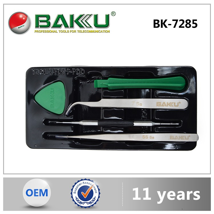 Tools Set With Tweezer Screwdriver Opening Tools BK-7285 for iphone/ipad