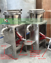 stainless steel honey press machine / wax and honey separator