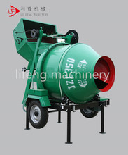 High Quality JZC350 small portable / electrical concrete mixer with pump