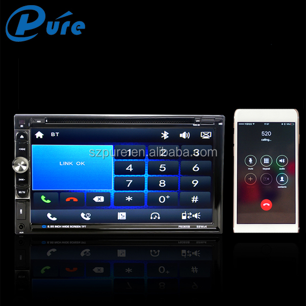 2 Din Car Radio DVD Player Wholesale Car DVD Player GPS CD/DVD Music Player with 6.95 Inch HD Screen