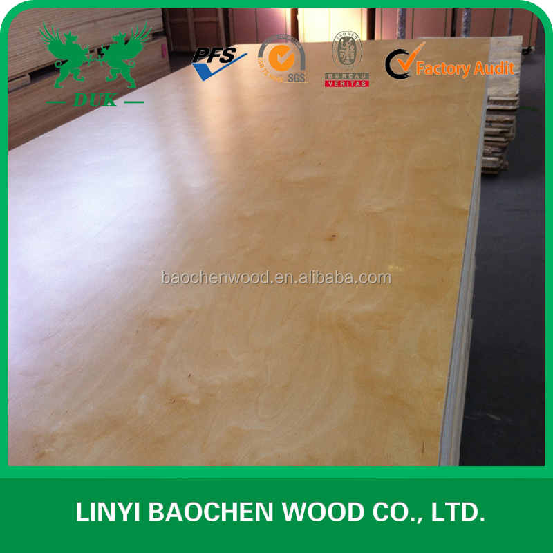 Good quality Double Sides Coated UV Birch Plywood for sale