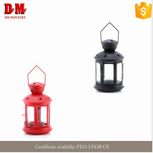 fashion durable metal candle lantern in restaurant