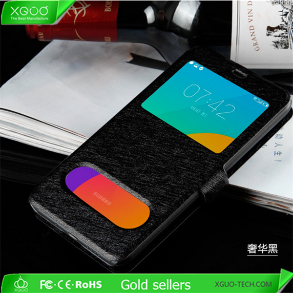 Best selling product stand flip cover for pu case meizu mx5 cover