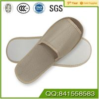 New design room terry cloth hotel slippers with sponge heel for guest