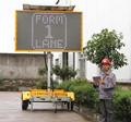 Led Digital Traffic Sign Outdoor Message Display Board Trailer Vms