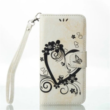 New arrival product embossing heart PU leather flip card slot design mobile phone case for samsung note5 cover with hand strap