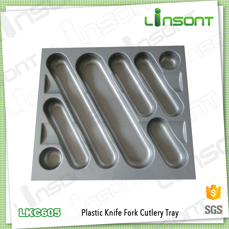 Sanitary plastic kitchen trays fittings for furniture cutlery plate for knife