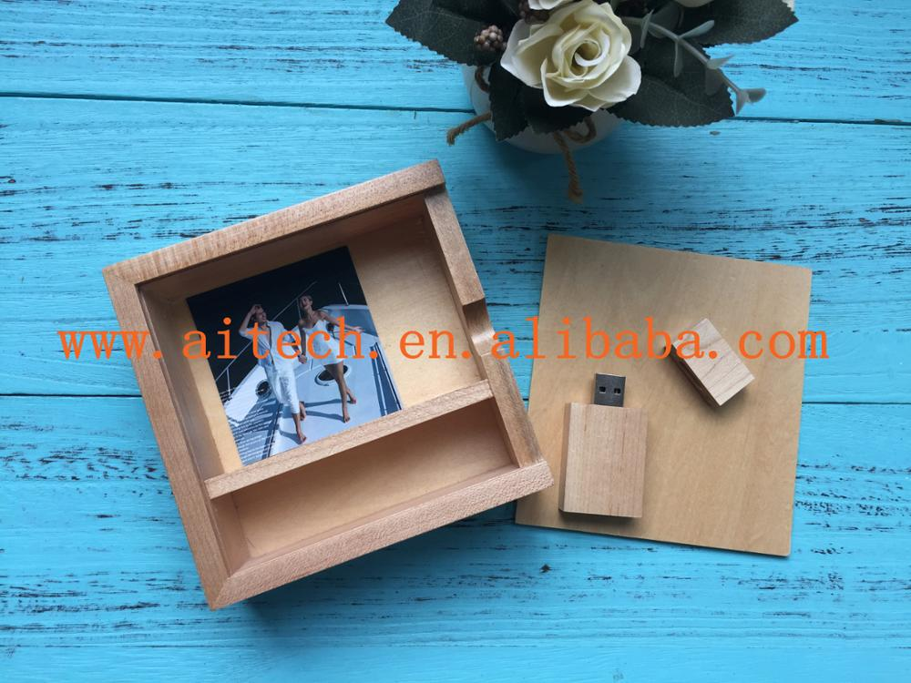 Custom Photography Exclusive Natural Wood Box For USB And Photos