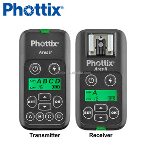 2018 hot selling Photographic accessories 16 Channels Wireless Studio Flash Trigger Transmitter and Receiver Set