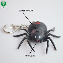 Wholesale Custom Logo Spider Shape Keyring, Led Sound Keychain, Flashlight Keychain