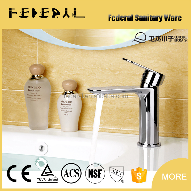 2015 Practical water-saving basin faucet - Deck mounted Single Hole Bathroom Basin Faucets Mixer Taps Chrome One handle