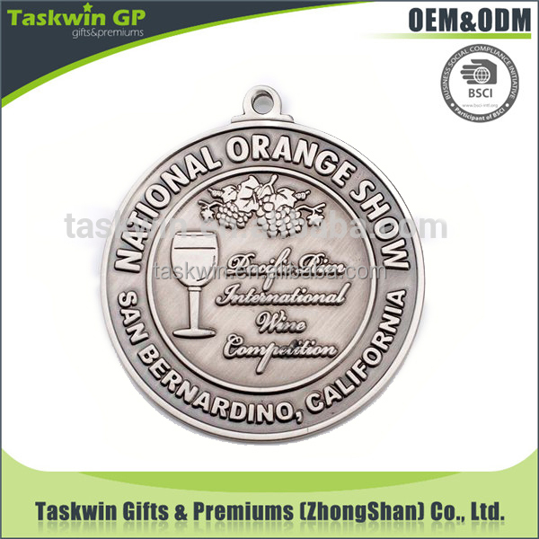 Professional high quality cheap customized metal wine competition medal maker