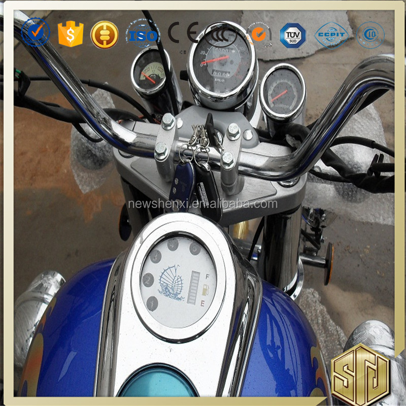 Supply Motorcycle Gas Petrol Three Wheel Motorcycle for Cargo Drum Disc Brake Electrical Kick