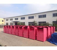 2017 Good quality rain-proof second hand Shoes and Clothes Recycling bin for outdoor use 010601