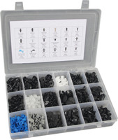 475pc Trim Clip Assortment Pom Auto Clips Plastic Fasteners Kit