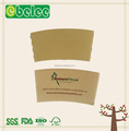 High quality coffee cup paper sleeve with custom logo printed