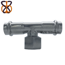 Female threaded Pipe Fittings Stainless Steel Tee with top quality