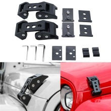 Lock Hood Latch Catch Cover Exterior Protect Decoration Car Hood Lock Catch Latch For Jeep Wrangler JK 2007-2016