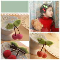 kids hairpin wholesale pheasant wool hairclips cherry style pins for hair cube latest hair accessories designs for baby