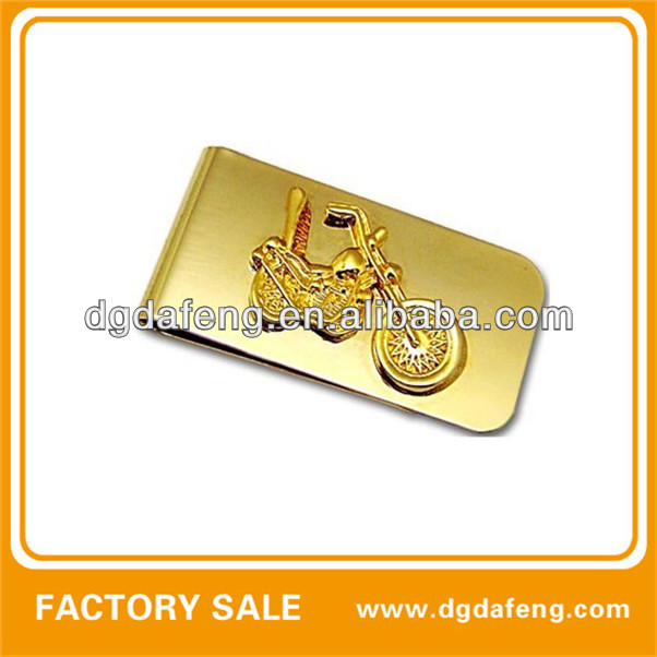 gold spring motor money clip with factory price