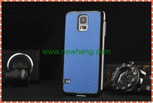hot selling carbon fiber leather stick leather case for Samsung Galaxy S5 mini