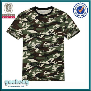 Manufactory fashion custom army t shirt private label for Custom t shirts camouflage