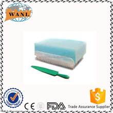 sterile disposable surgical scrub brush with nail cleaner