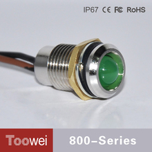 Toowei Z800 Series Good Quality Colourful 2~220VAC 12mm Car Alarm Led Indicator Lights