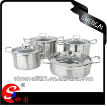 8pcs Stainless Steel Cookware Cooking Pot Multi Cooker Hot New Products for 2014