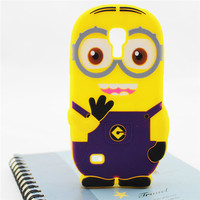 3d silicone soft case despicable me minions cover for samsung galaxy s4