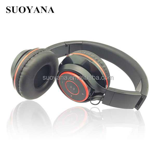 Leather touch comfortable earmuff headphone wireless with bluetooth function