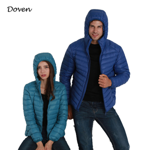 Wholesale unisex winter down jacket with hood