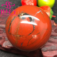 6-10cm natural red jasper crystal spheres red jade stone balls