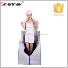 Finland music portable steam sauna with pink towel and Ipad