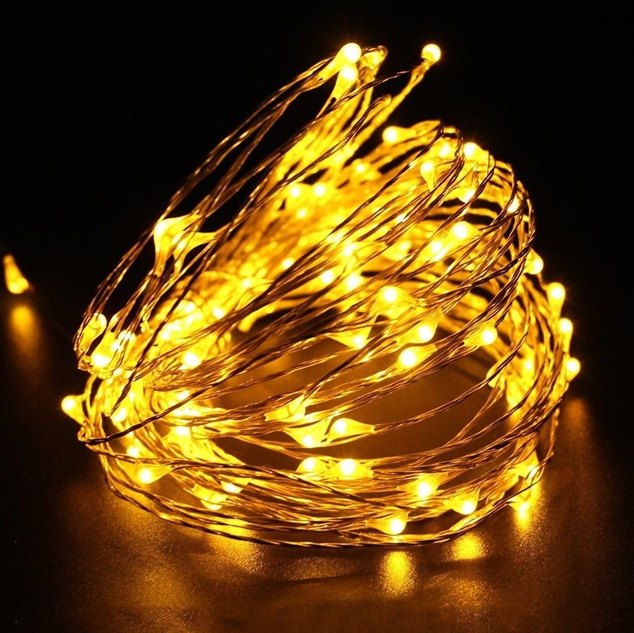 Popular furniture decorative warm white christmas tree next copper fairy low voltage led light rope