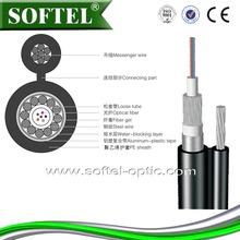 GYTC8A aerial optical cable,2/288 fiber count/cabling process offers,self-support aerial cable/with messenger wire