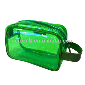 HX13121605 Transparent PVC Cosmetic Bag with zipper