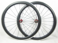 High Quality 50mm Clincher Carbon Fiber race Wheels Aluminium brake 23mm width