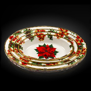 Best dinnerware gold rim melamine divided dinner plate