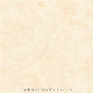 full glazed polished floor tiles 600*600mm marble design beige color